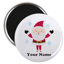 Personalized Santa Snowflake Magnet