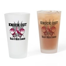 Knock Head Neck Cancer Drinking Glass