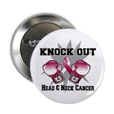 "Knock Head Neck Cancer 2.25"" Button (10 pack)"