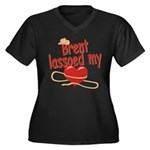 Brent Lassoed My Heart Women's Plus Size V-Neck Da