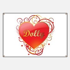 Dolly Valentines Banner