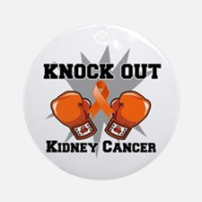 Knock Out Kidney Cancer Ornament (Round)