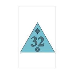 32nd Degree Canada Sticker (Rectangle)