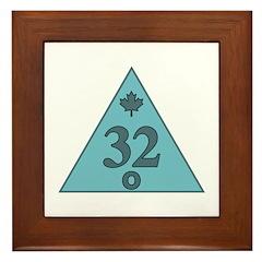 32nd Degree Canada Framed Tile