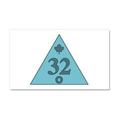 Canadian 32nd Degree Mason Car Magnet 20 x 12
