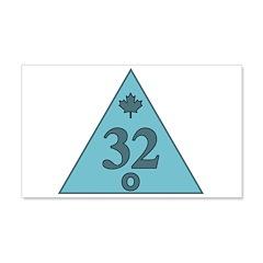 Canadian 32nd Degree Mason 22x14 Wall Peel