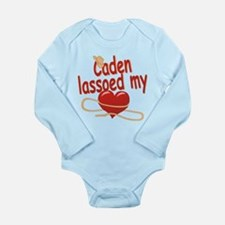Caden Lassoed My Heart Long Sleeve Infant Bodysuit
