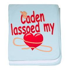 Caden Lassoed My Heart baby blanket