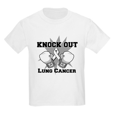 Knock Out Lung Cancer Kids Light T-Shirt