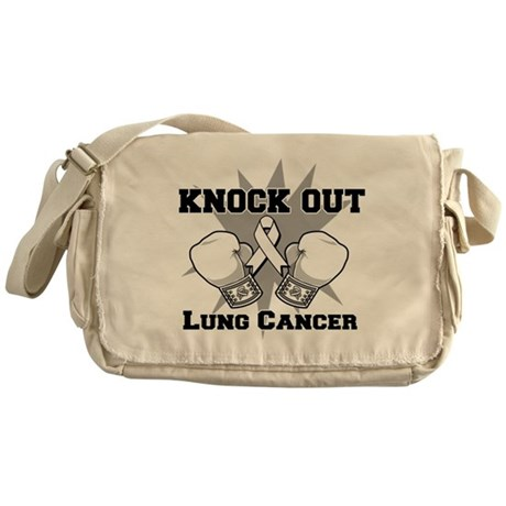 Knock Out Lung Cancer Messenger Bag