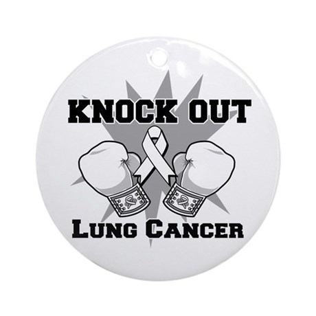 Knock Out Lung Cancer Ornament (Round)