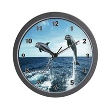 Dolphins In The Ocean Wall Clock
