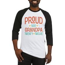 Proud New grandpa 2012 Baseball Jersey
