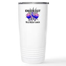Knock Male Breast Cancer Travel Mug