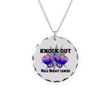 Knock Male Breast Cancer Necklace