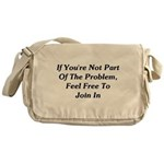 Not Part Of The Problem Messenger Bag