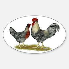 Legbar Cream Fowl Sticker (Oval)