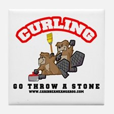 Curling Beavers tile coaster!