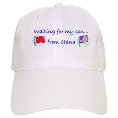Waiting for my son...from Chi Baseball Cap