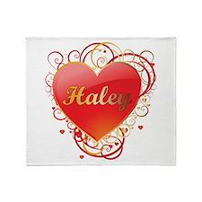 Haley Valentines Throw Blanket