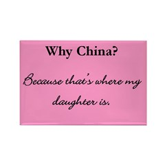 Why China? Rectangle Magnet