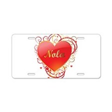 Nola Valentines Aluminum License Plate