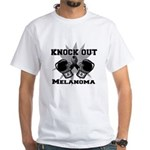 Knock Out Melanoma White T-Shirt