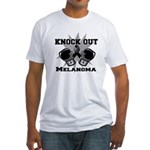 Knock Out Melanoma Fitted T-Shirt
