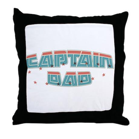Captain dad Throw Pillow
