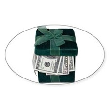 Gift Box Full of Money Decal