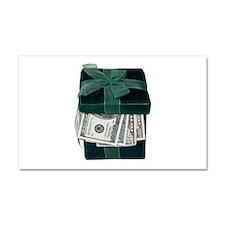 Gift Box Full of Money Car Magnet 20 x 12