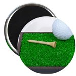 Golf Ball Tee Laying on Grass Magnet
