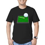 Golf Ball Tee Laying on Grass Men's Fitted T-Shirt