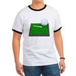 Golf Ball Tee Laying on Grass Ringer T