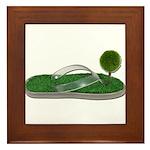 Green Footprint Framed Tile