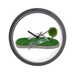 Green Footprint Wall Clock