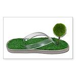 Green Footprint Sticker (Rectangle 50 pk)