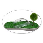 Green Footprint Sticker (Oval 50 pk)