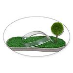 Green Footprint Sticker (Oval 10 pk)