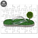 Green Footprint Puzzle