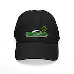 Green Footprint Black Cap