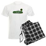Green Footprint Men's Light Pajamas