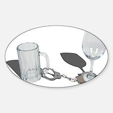 Handcuffs Beer Stein Wine Gla Decal