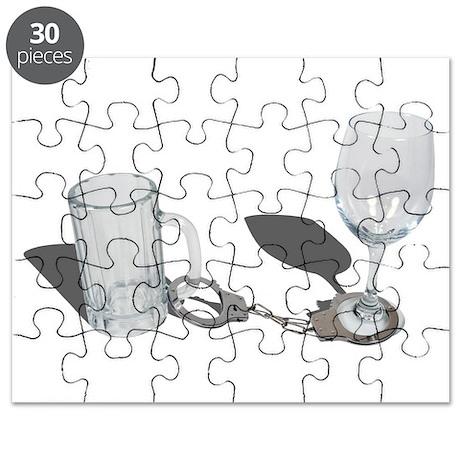 Handcuffs Beer Stein Wine Gla Puzzle