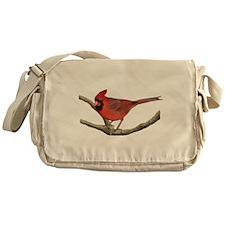 Cute Cardinal bird Messenger Bag