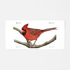 Cute Cardinal Aluminum License Plate