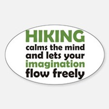 Hiking Calms the Mind Decal