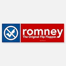 Romney Flip Flopper Sticker (Bumper)