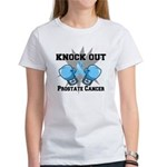 Knock Out Prostate Cancer Women's T-Shirt