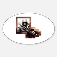 Funny Assassins creed Sticker (Oval)